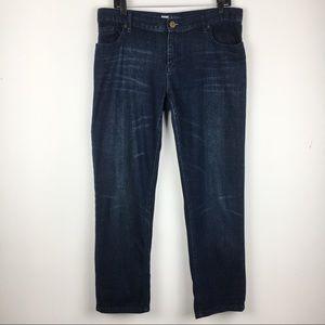 Mossimo Skinny Boyfriend Dark Wash Jeans Size 10
